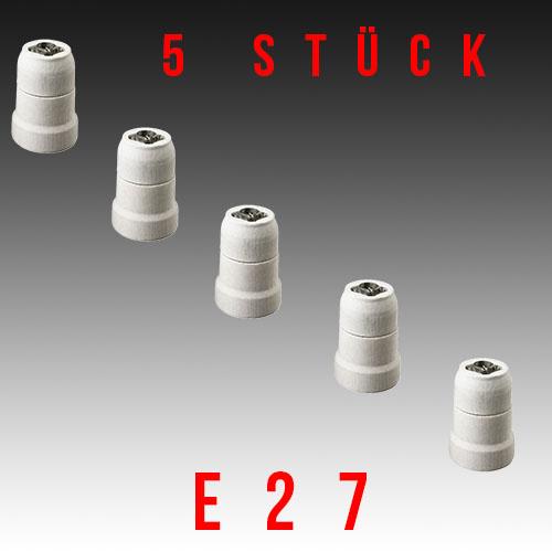 5 Stück HL593 - E27 Fassung Lampenfassung Leuchtmittelhalterung