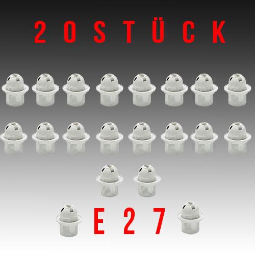 20 Stück HL584 - E27 Fassung Lampenfassung Leuchtmittelhalterung