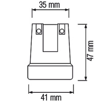 10 Stück HL591 - E27 Fassung Lampenfassung Leuchtmittelhalterung