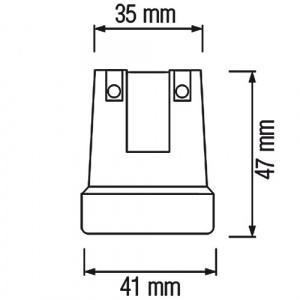 20 Stück HL591 - E27 Fassung Lampenfassung...