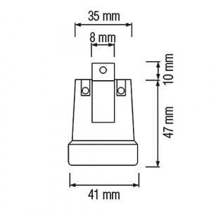 10 Stück HL592 - E27 Fassung Lampenfassung...