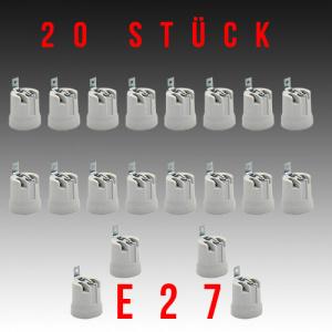 20 Stück HL592 - E27 Fassung Lampenfassung...