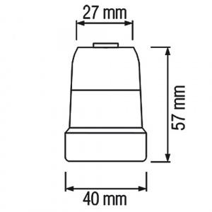 HL593 E27 PORCELAIN LAMP HOLDER