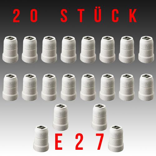 20 Stück HL593 - E27 Fassung Lampenfassung Leuchtmittelhalterung