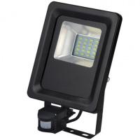10W Schwarz 6400K LED Projektor Fluter Strahler m. Bewegungsmelder - PUMA/S-10