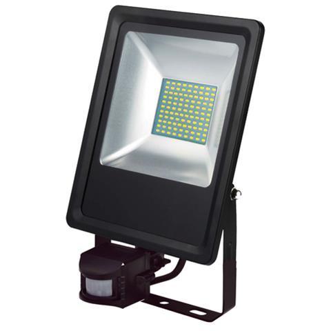 50W Schwarz 6400K LED Projektor Fluter Strahler m. Bewegungsmelder - PUMA/S-50