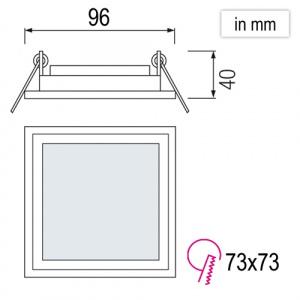 MARIA-6 6W Glas Design LED Panel Einbaustrahler...