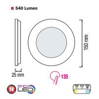Slim-9 9W 2700K Ultraslim LED Panel Einbaustrahler Deckenleuchte Leuchte