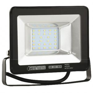 20W Schwarz 6400K LED Projektor Fluter Strahler - PUMA-20