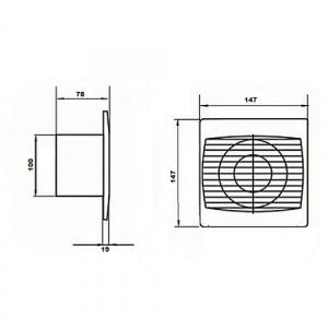 NISA 10CM 220-240V Lüftungsventilator - Lüfter