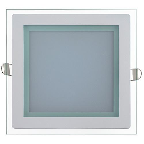 MARIA-15 15W Glas Design LED Panel Einbaustrahler Deckenleuchte Eckig Lichtpanel, kaltweiss 6400K