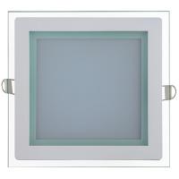 MARIA-15 15W Glas Design LED Panel Einbaustrahler Deckenleuchte Eckig Lichtpanel, warmweiss 3000K