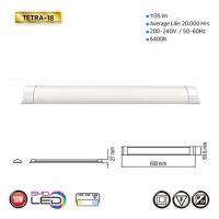 TETRA-18 - Slim LED Lichtleiste Deckenlampe - 60CM 18W 6400K