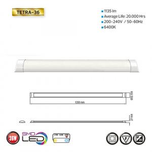 TETRA-36 - Slim LED Lichtleiste Deckenlampe - 120CM 36W...