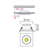 5W 6500K Matchrom COB LED Einbauspot Einbaustrahler - VICTORIA-5