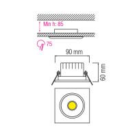 3W 6500K Matchrom COB LED Einbauspot Einbaustrahler - MELISA-3