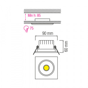 5W 6500K Weiss COB LED Einbauspot Einbaustrahler - MELISA-5