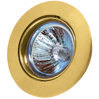 MENEKSE Goldfarbig Schwenkbar GU5.3 Einbaustrahler Einbaurahmen
