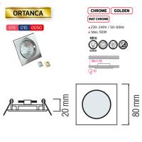 ORTANCA Matchrom GU5.3 Einbaustrahler Einbaurahmen