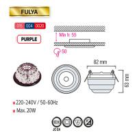 FULYA Lila G4 Kristall LED Aufbaulampe Aufbau Spot