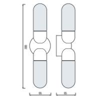 AQUA-2 Spiegellampe Badezimmerlampe Wandleuchte Chrom IP44 E14