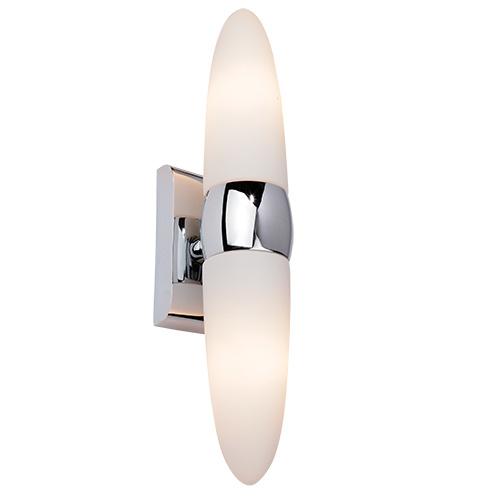VODA-2 Spiegellampe Badezimmerlampe Wandleuchte Chrom IP44 E14