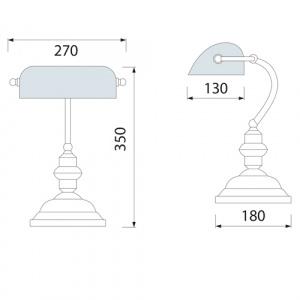 Grün E27 Tischlampe Dekorlampe Bürolampe - SIMGE
