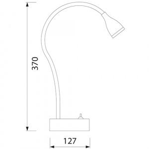 3W Schwarz LED Tischlampe Büroleuchte - ECE