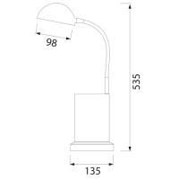 3W Rot LED Tischlampe Büroleuchte - ECE