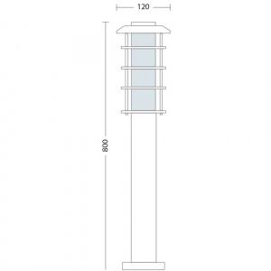 LADIN-4 60W E27 Gartenlampe Gartenleuchte