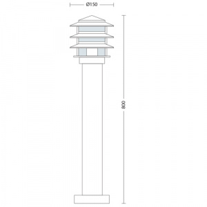 E27 Gartenlampe Gartenleuchte Außenlampe - KAYIN-4