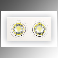 2X5W Weiss 2700K COB LED Einbauspot Einbaustrahler - ADRIANA-10