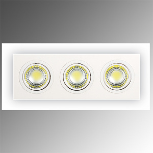 3X5W Weiss 2700K COB LED Einbauspot Einbaustrahler -...