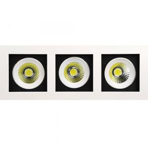 3x8W Weiss 2700K COB LED Einbauspot Einbaustrahler -...