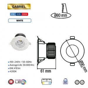 Feuchtraum LED Einbaustrahler 6W 4200K Naturweiss IP65-...