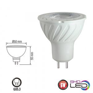 6W GU5.3 LED Leuchtmittel 3000K , warmweiss - FONIX-6