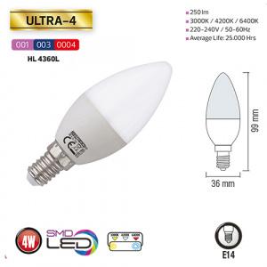 4W 4200K E14 LED Leuchtmittel - ULTRA-4