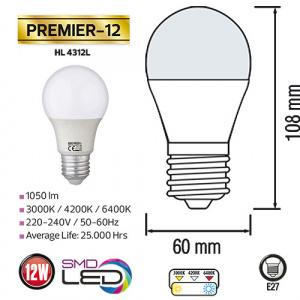 12W 6400K E27 LED Leuchtmittel - PREMIER-12