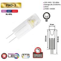 3W 6400K G4 Keramisch LED Leuchtmittel - PIKO-3
