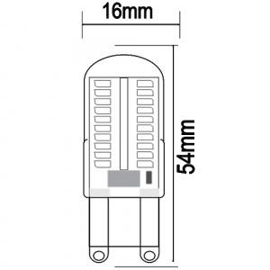 5W Silikon G9 2700K Mini LED Leuchtmittel - MEGA-5
