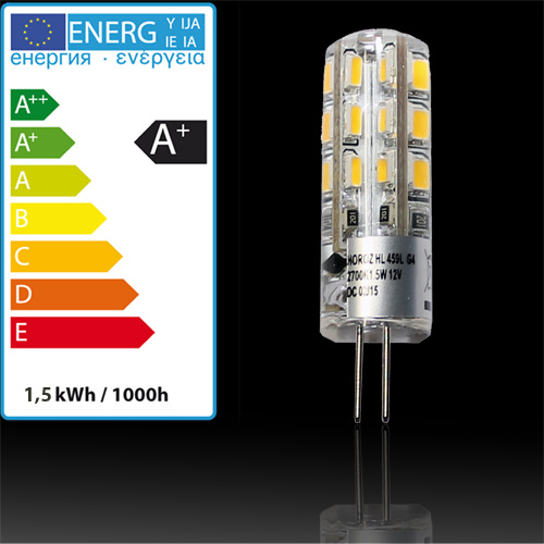 1.5W G4 6400K 12V Silikon Mini LED Leuchtmittel - MIDI