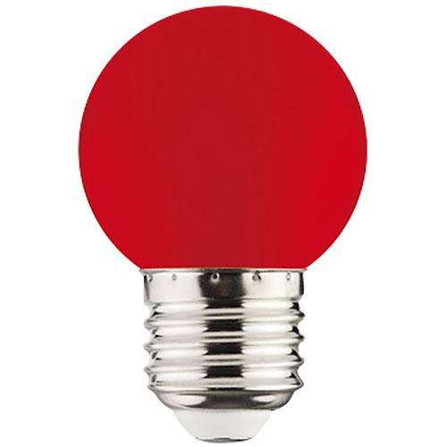 1W Rot E27 LED Farbige Leuchtmittel - RAINBOW