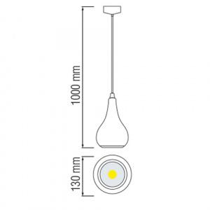 10W Schwarz 6400K LED Pendelleuchte Pendellampe - AVENSIS-10