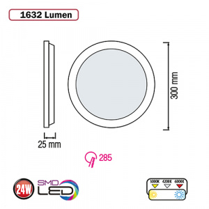 Slim-24 24W 2700K Ultraslim LED Panel Einbaustrahler Deckenleuchte Leuchte