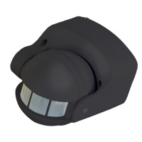 Schwarz Bewegungsmelder Sensor Aufputz IP44 180° - LINEA