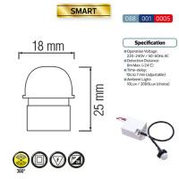Weiss Mini Bewegungsmelder Sensor Unterputz 360° Für LED Detector Max. 1200W - SMART