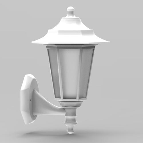 E27 Weiss Außenlampe Wandleuchte Gartenlampe - BEGONYA-2