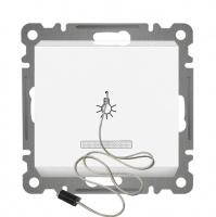 ZUGSCHALTER mit LED ( Einsatz + Deckel ) LUNIS Alpinweiss