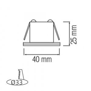 LED Mini Einbaustrahler Minispot 3W Matchrom 4200K - MIRANDA