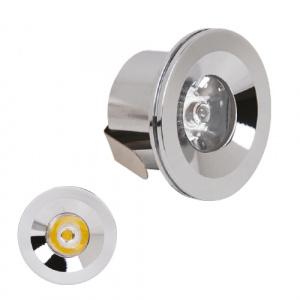LED Mini Einbaustrahler Minispot 1W Chrom 4200K - MONICA